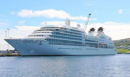El vaixell de creueristes Seabourn Sojourn amb bandera de Bahamas procedent de Marsella i altres ciutats, 20.06.16, 26.06.16, 10.07.16, 06.08.16, 04.09.16 i  02.10.16, 31.10.16.