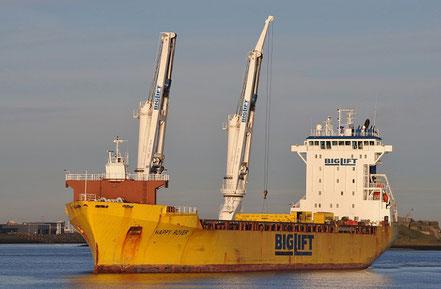 El vaixell de càrrega general Happy Rover, de bandera holandesa, procedent de Gibraltar. 14.11.16.