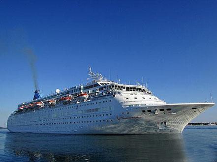 El vaixell de creueristes Thomson Majesty amb bandera de Malta procedent de Palma de Mallorca. 11.08.16. i 06.10.16..