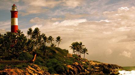 Far de Kovalam al sud de l'Índia.
