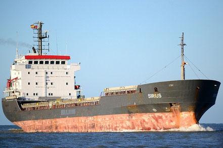El vaixell de gra Basel Discovery / Sirius, de bandera panamenya, procedent de Tarragona i Kherson, Ucrania. 16.12.16