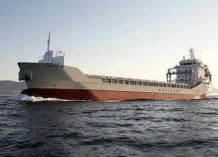 El vaixell de càrrega general Manuela E, de bandera espanyola, procedent de Melilla. 08.06.16.