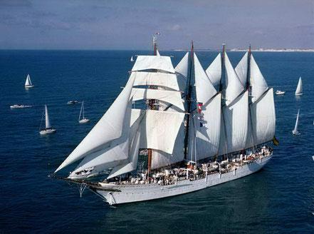 Vaixell Marina Espanyola Juan Sebastián Elcano, 113 m, 1927.