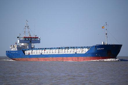 El vaixell de càrrega general Stapelmoor, de bandera de Antigua & Barbuda, procedent de Port Saint Louis du Rhone, França.. 27.07.17.