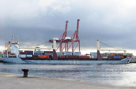 El vaixell de càrrega general FWN Splendide, de bandera holandesa, procedent d'Alacant, Espanya. 04.08.16.