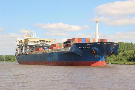 El vaixell de càrrega general Star Grip, de bandera noruega, procedent de Lirquen, Chile i Gibraltar. 10.07.16. I el 05.12.16 procedent de Santos Anchorage, Brasil.