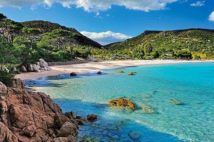 Les cales de l'illa de Palombaggia, a Còrsega, França.