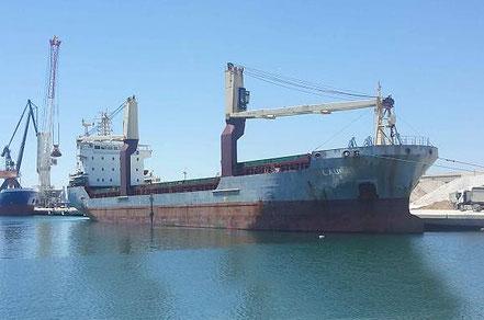 El vaixell de càrrega general Amatrice, de bandera italiana, procedent de Castelló de la Plana. 11.08.17.