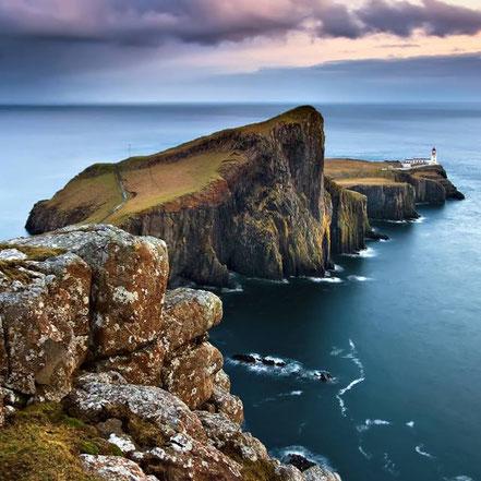 Far a la punta de Neist, Península Duirinish, Illa de Skye, Escòcia.