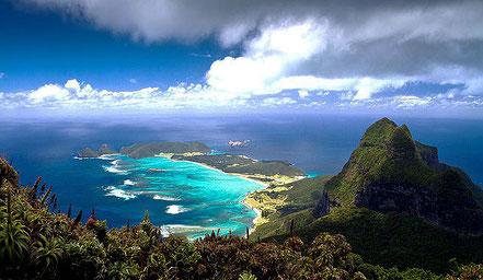 Cales a l'illa de Lord Howe, Sydney, Austràlia.