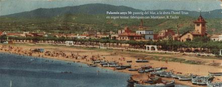 Passeig de Palamós en els anys '50.