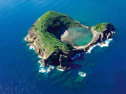 Illa de Vila Franca do Campo, Açores, Portugal.