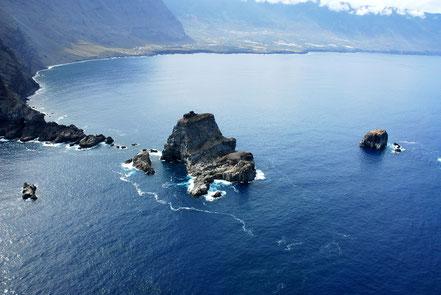 Illa de El Hierro, vista aèria dels Roques de Salmor, Illes Canàries.