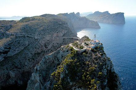 Far de Formentor, al nord de l'illa de Mallorca.