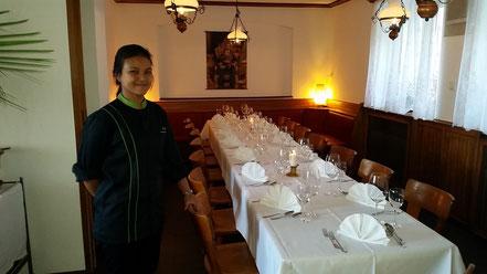 Das Restaurant Angehrn bietet auch Platz für kleine Gruppen