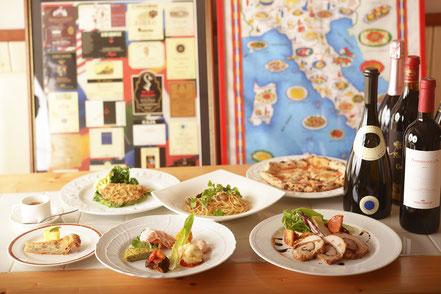 お料理 5,500円コース(メニュー内容は一例です)