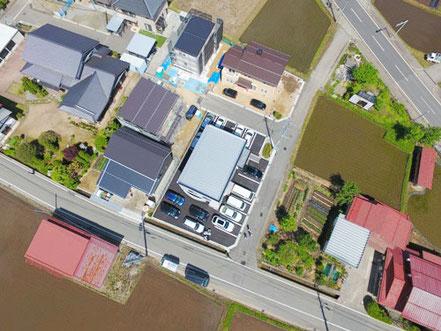 UAVによる上空からの写真