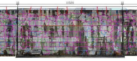 構造物調査で状態をわかりやすく示している図