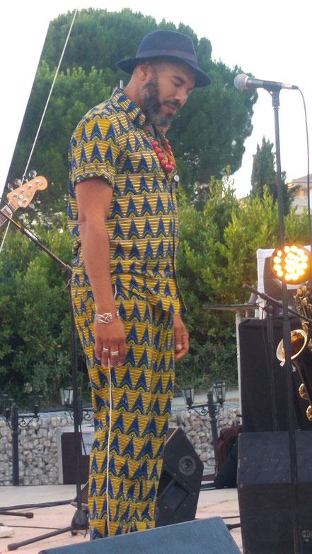 Groupe : Anthony Joseph. Musicien à l'image : Anthony Joseph (chant). Le mercredi 27 06 2018. Festival de la Moline 2018 (Marseille). ( Photo) Jc Colletto.