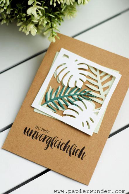 Stampin Up Papierwunder Palmengarten Traumhaft Tropisch Tropenflair Kraft der Natur Poesie der Natur Grußkarte Geschenk Geldgeschenk Inspiration Idee Diy