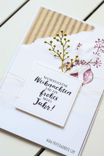 Stampin Up Papierwunder Wellenpapier Prägefolder eisblüten Framelits Chili Weihnachten