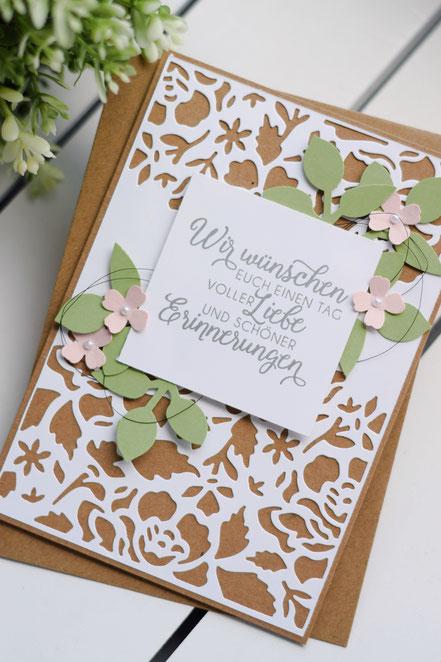 Stampin Up Florale Fantasie Hochzeitsgeschenk Hochzeitskarte Hochzeit geldgeschenk Grußkarte Basteln
