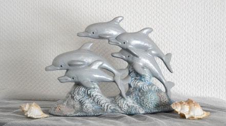 Delphingruppe aus Keramik 43,50 €
