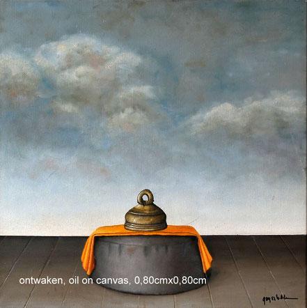 Zafu   olieverf op canvas 80cmx80cm. Prijs; 550 inc btw