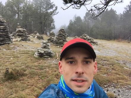 Arrivée au col de Bougès, ça valait bien un selfie! Alt 1400m