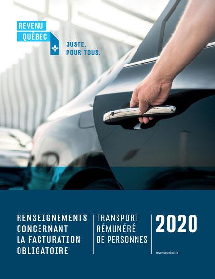 Revenu Québec document sur la facturation obligatoire pour transport rémunéré de personnes IN-575.TR