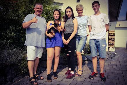 Jeff zieht zu seiner Familie in die Emsstadt Rheine. Hier wird er zunächst einmal eine Welpengruppe besuchen und wird zukünftig im IPO Sport ausgebildet.