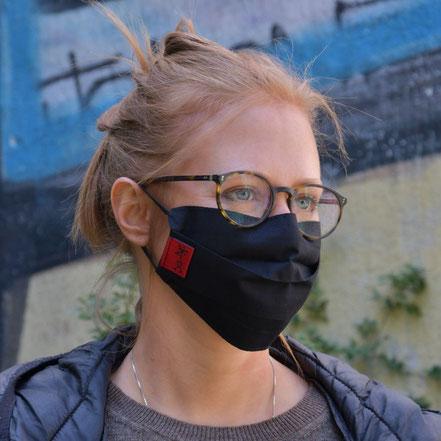 Faltmaske, Mund- und Nasenbedeckung, von Stef Fauser Design Berlin