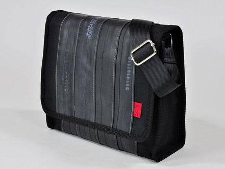 Tasche Towninger black aus Fahrradschlauch und Cordura von Stef Fauser Design