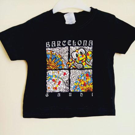 vetement occasion bébé. T-shirt barcelona bébé 2 ans