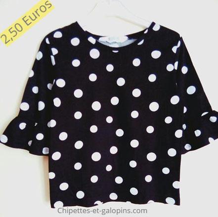 vetements occasion enfants. T-shirt pas cher fille 6 ans. Manches 3/4 H&M