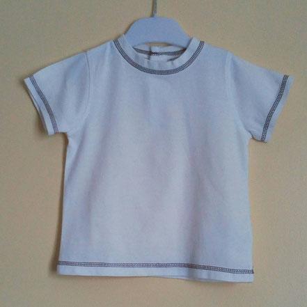 T-shirt blanc garçon 2 ans