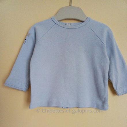 vetements bébé occasion. T-shirt manches longues Sucre d'orge pas cher bébé 6 mois