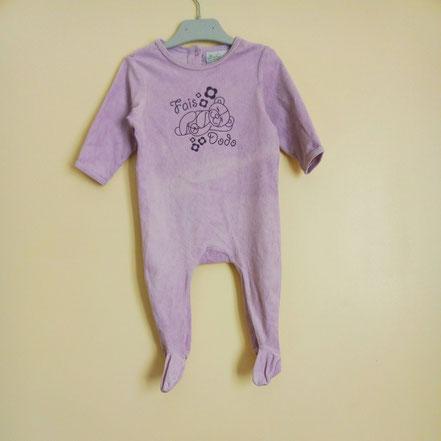 pyjama velours fille 12 mois