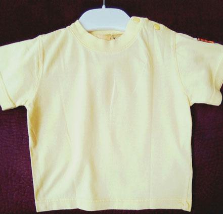 vetement bébé occasion. T-shirt uni jaune bébé 12 mois