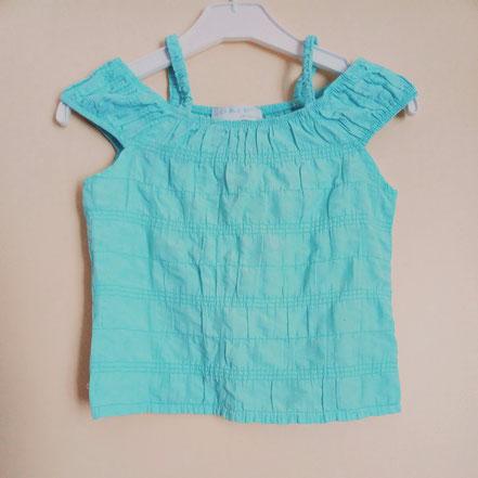 vetements occasion enfants. vetements occasion bébés. vetements pas chers fille 8 ans débardeur bleu turquoise
