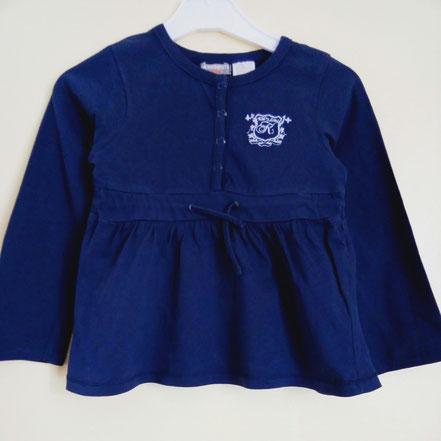 vetements occasion enfants. T-shirt manches longues bleu 6 ans