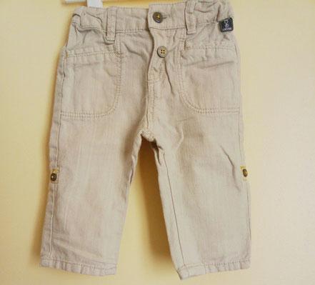 Pantalon lin et coton Obaïbi bébé garçon 6 mois