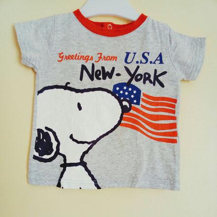 vetement occasion bébé. T-shirt snoopy bébé 9 mois