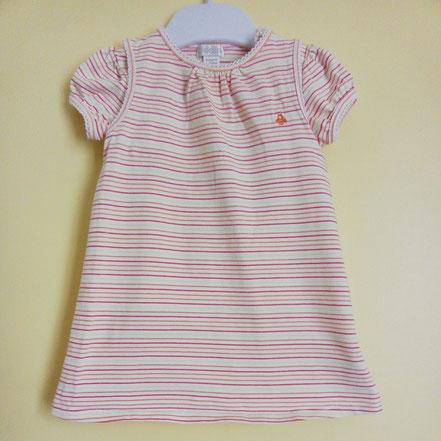 vêtements d'occasion pour bébé. Robe et T-shirt Obaïbi 6 mois