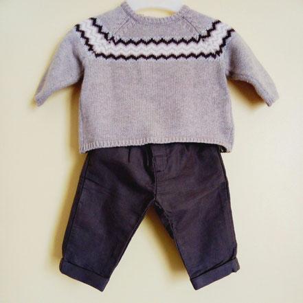 Pantalon et pull Du Pareil Au Même garçon 3 mois