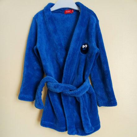 Robe de chambre bleue 4 ans