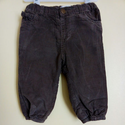Pantalon en velours In Extenso 12 mois