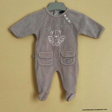 Pyjama naissance velours CREEKS