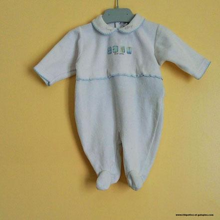 Pyjama en velours Sucre d'orge 3 mois