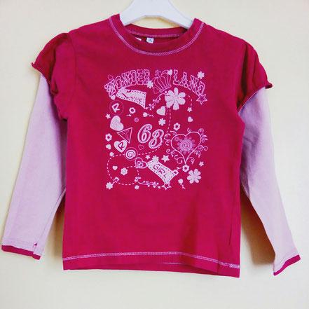 vetement occasion enfants. T-shirt à manches longues 2 en 1 rose 6 ans